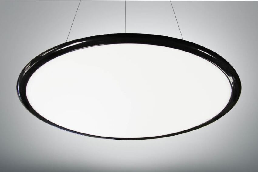 LED Round Flat Panel Pendant from MaxLite