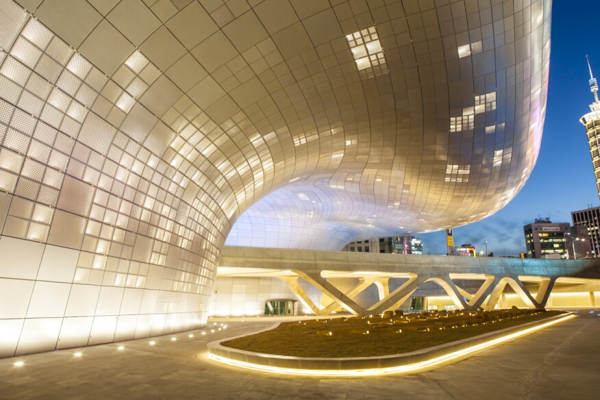 Dongdaemun Design Plaza. Seoul, South Korea