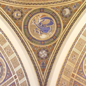 Air, Great Hall of the National Academy of Sciences, 1924; Washington, D.C. Design by Hildreth Meière. Architect: Bertram G. Goodhue; Akoustolith tile: R. Guastavino Company; Gesso and Gilding: Mack, Jenny and Tyler.