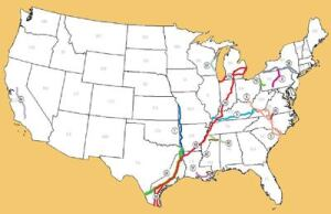 Mapping the futureThe National Highway System has designated 12 highway corridors as future interstates.Giving states the option of obtaining an interstate connector designation for routes designated as future interstates once they achieve AASHTO freeway standards would save billions over the long term with minimal impact on safety.Map: Federal Highway Administration