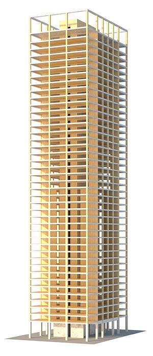 Perspective of timber tower prototype
