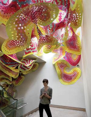 Chromatae served as a public art exhibit at the Denver Botanic Garden in 2012, exploring how computational coloring can enhance a sensory environment.