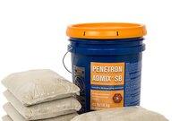 Crystalline admixture protects against road salt