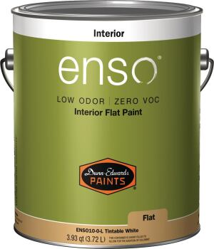 DUNN-EDWARDS. Enso is a 100% acrylic zero-VOC, low-odor paint made with this company's proprietary resins. Available in flat, eggshell, semi-gloss, and as a primer, these paints use zero-VOC colorants and are certified MPI X-Green and CRGI Green Wise and listed in the CHPS High Performance Products Database. 888.337.2468. www.dunnedwards.com.