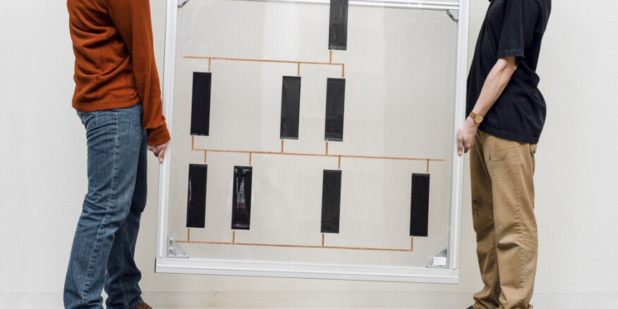 A photovoltaic façade panel from KieranTimberlake's 2008 Cellophane House.