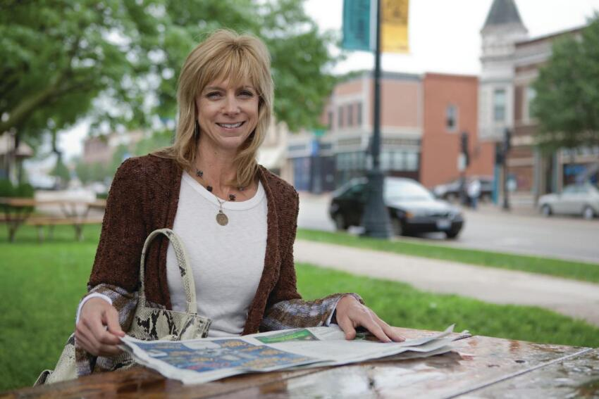 Live Work Single mom Sue Kartheiser, the first buyer at SchoolStreet Homes, runs a small business from her home.