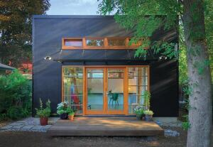 Michael Fifield, AIA, designed this 269-square-foot studio for the rear yard of a house in Eugene, Ore.