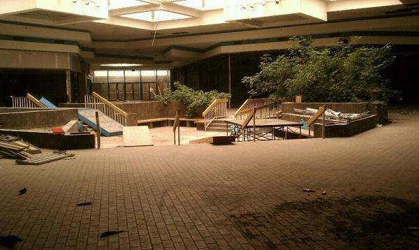 The abandoned North Towne Square Mall (renamed Lakeside Center) in Toldeo, Ohio