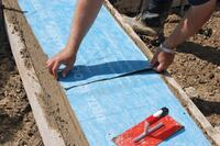 No-Leak Membrane for Concrete Footings