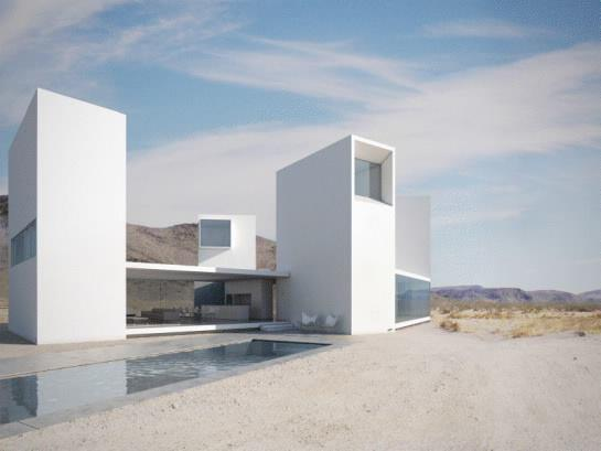 Four Eyes House, Coachella Valley, Calif., by Edward Ogosta Architecture