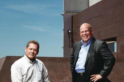Mark Ripple, partner and director of operations (left) and Steve Dumez, partner and director of design (right).