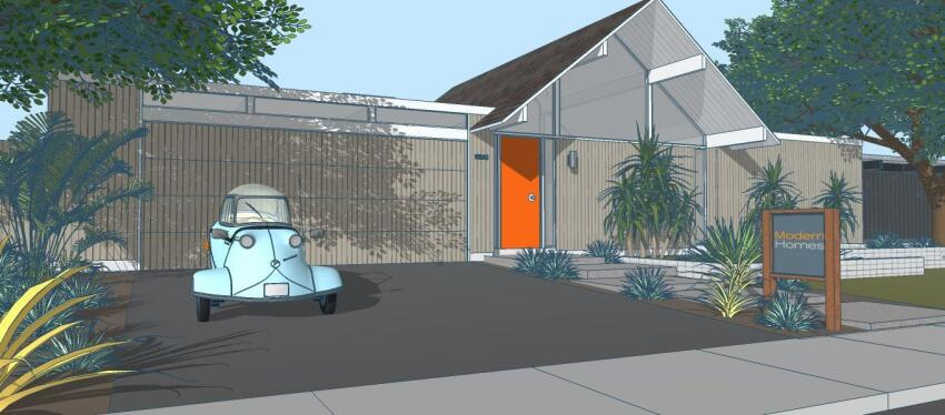 A rendering of a Lombardelli-inspired Eichler.