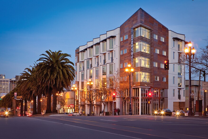 Forest City's 88-unit 2175 Market St. in San Francisco.