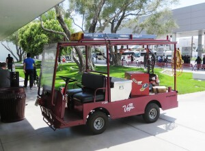 Electric Transporter Work Vehicle at Las Vegas Convention Center