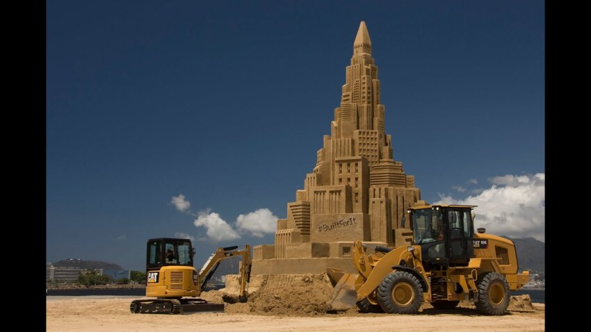 Built For It Trials - Sand Castle: Cat Products Build World's Tallest Sand Castle
