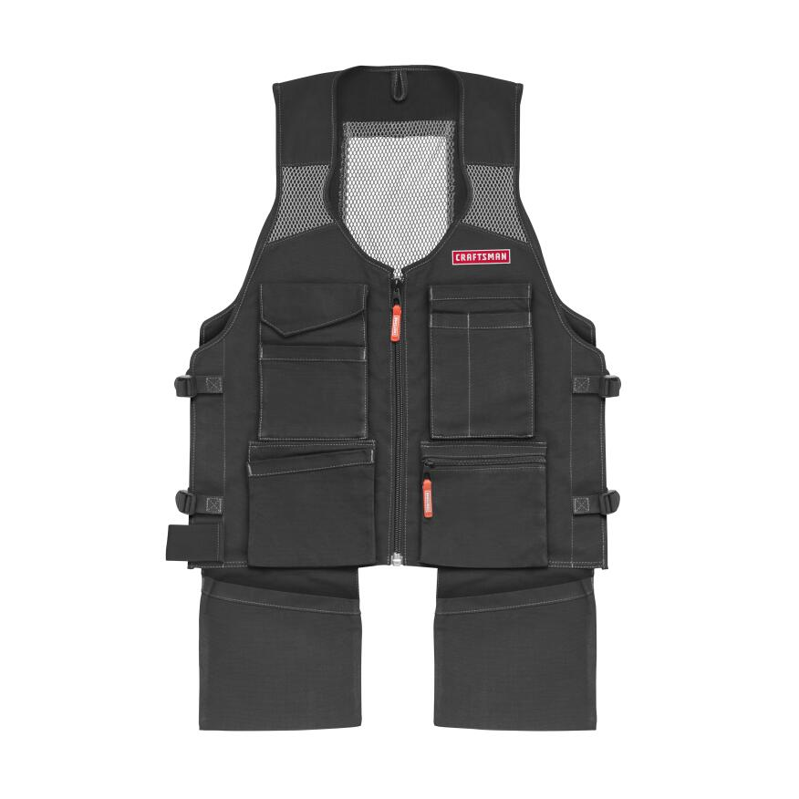 The Craftsman Work Vest has nine pockets, all on the front of the garment.