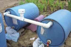 Creative uses: The Memphis  Urban Garden Program has recycled plastic barrels into water tanks,  rainwater catchers and even storage containers for manure.  They've also turned chlorine barrels into low-maintenance  composting containers.