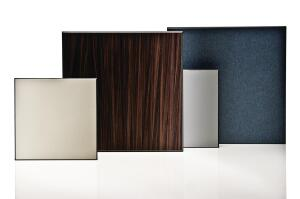 "Vivix exterior architectural panels by Formica are rigid homogenous flat panels designed for vertical application with a rainscreen-attachment system. Panels are available in wood grains, solid colors, and six additional pattern options, and in 5/16"", 3/8"", and 1/2"" thicknesses. Vivix contains 3% pre-consumer recycled wood-fiber content. Sheet sizes include 48"" by 96"" and 60"" by 120"" or 144"". ¢ formica.com"