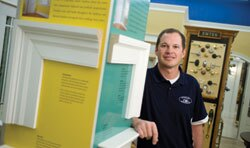SEE IT, BUY IT: Eric Spencer, of Spencer Home Center in Lexington, Va., has been building up his store's display areas so customers can see, touch, and discuss potential new products. Dealers say builders often hear about new products from ads or through word of mouth, but they don't decide to buy the goods until after they've spoken with a dealer.