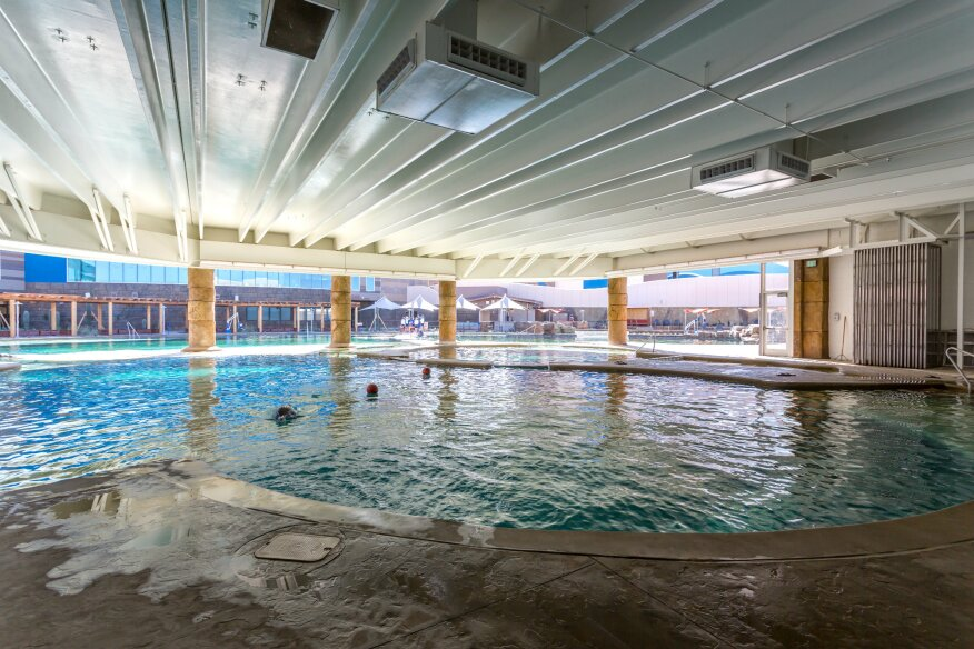A swimming pool fit for a dolphin pool spa news for Indoor swimming pools in mesa az