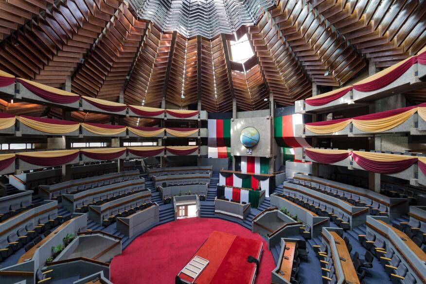Kenyatta International Conference Centre (1967–73) in Nairobi, Kenya, by Karl Henrik Nostvik