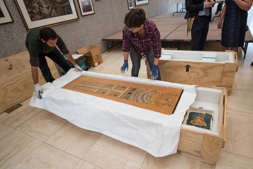 """U.S. Immigration and Customs Enforcement, as part of a recent investigation called """"Operation Mummy's Curse,"""" exhibits illegally smuggled ancient artifacts that were repatriated to Egypt."""