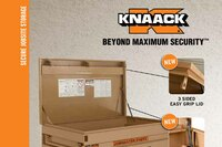 KNAACK's New 3-Sided Easy Grip and Anti-Slam Chest Lid Features