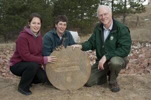 The Urban Water Center in Colorado State University's College of Engineering recently completed a three-year study on greywater irrigation. Pictured are (from left) professor Sybil Sharvelle, former graduate research assistant Adam Jokerst, and professor Larry Roesner.