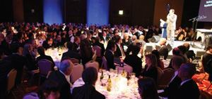 The Professional Lighting Design Convention attracted well over 1,000 lighting designers at its first global convention held in London October 24-27, 2007. The program's three days were filled with over 45 paper presentations, and a gala dinner event (above).