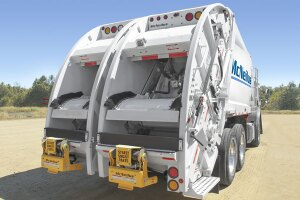 The McNeilus Organics Package option is available for all McNeilus rear loaders, with several unique features that allow for collection of organic material with a lot less mess.