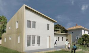 An early design concept by the students working on the Empowerhouse project shows one option for the home's exterior.