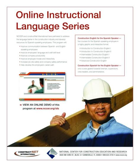 National Center for Construction Education and Research Offers Construction Skill Assessments in Spanish