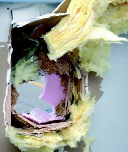 A 4-inch-diameter cabbage shot at 115 mph made a much smaller hole going into the wall and a hole the size of a basketball coming out.