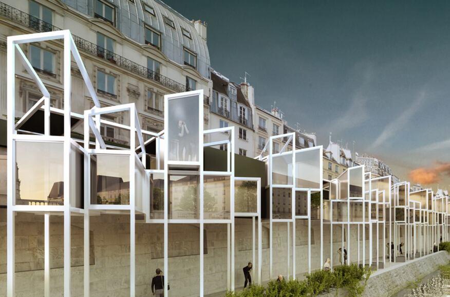 EauBerge Paris Capsule Hotel, MenoMenoPiu Architects, Paris