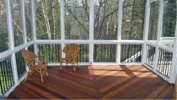 Figure 9. A simple porch adds a wow factor to a deck.