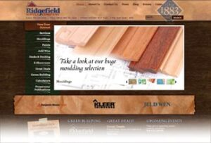 The Ridgefield website's moulding page shows an entire catalog that can be viewed online or downloaded.