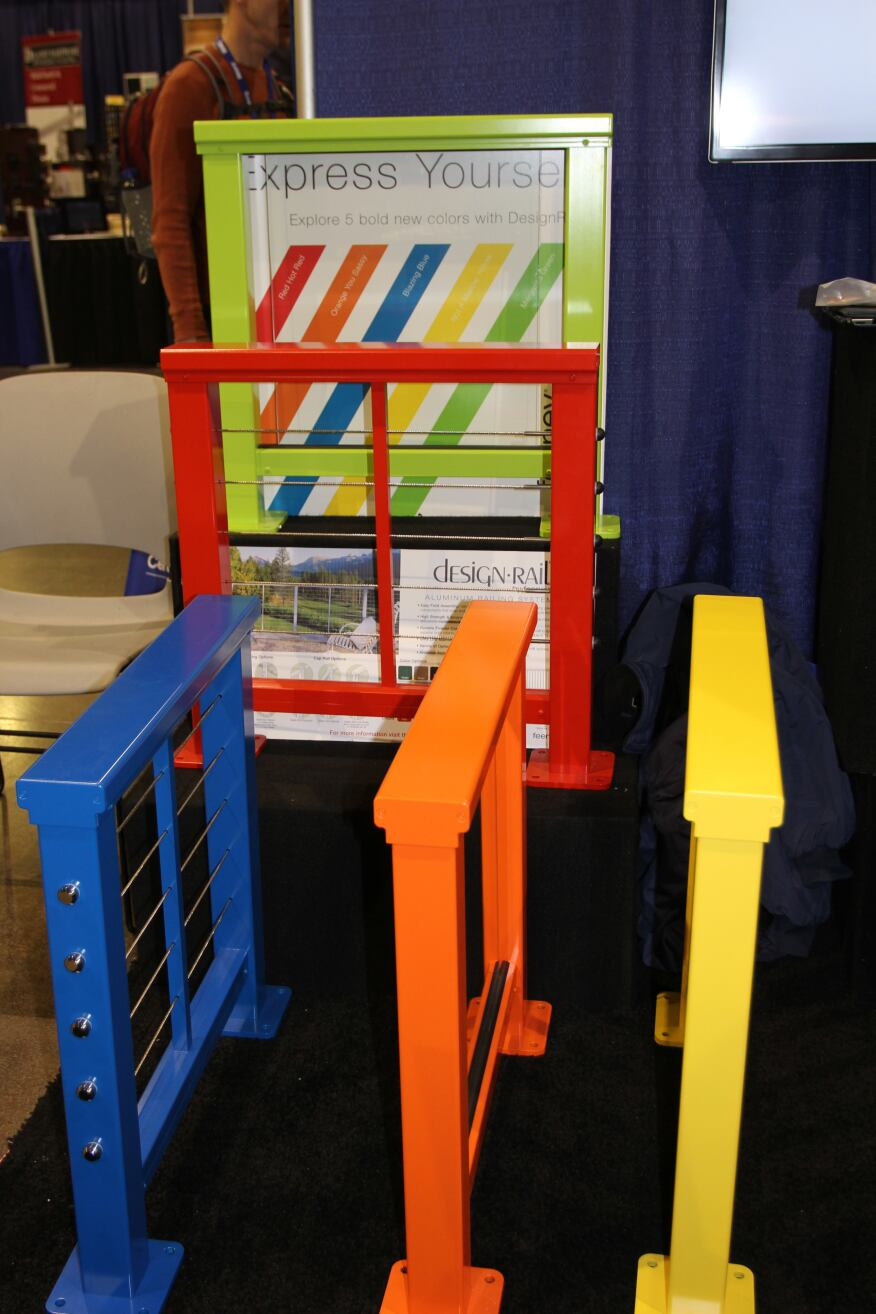 Feeney featured their colorful new DesignRail components at their booth.