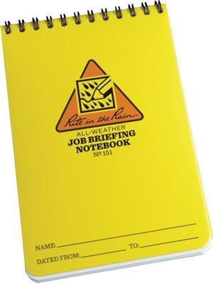 These new all-weather notebooks designed to help concrete professionals keep accurate field notes while working in harsh jobsite and plant conditions.
