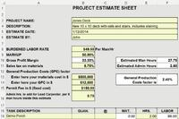 Estimating: From Yellow Pad to Excel Spreadsheet