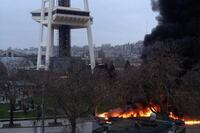 Helicopter Crashes at Base of Space Needle
