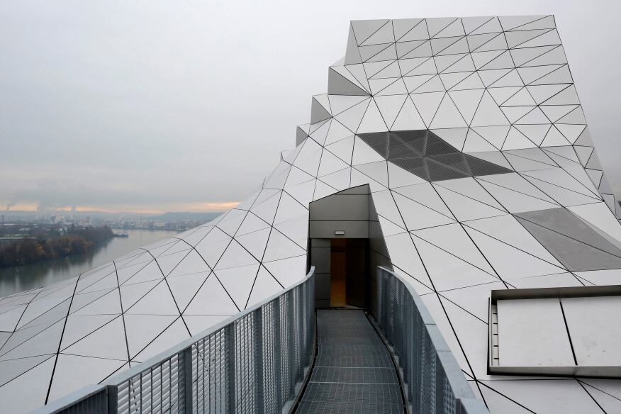 """The rooftop of the new """"Musee des Confluences"""", a science and anthropology museum designed by Austrian architect Wolf Dieter Prixin Lyon, France, was inaugurated on Friday."""