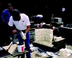 Building a Masonry Firebox with Refractory Mortar