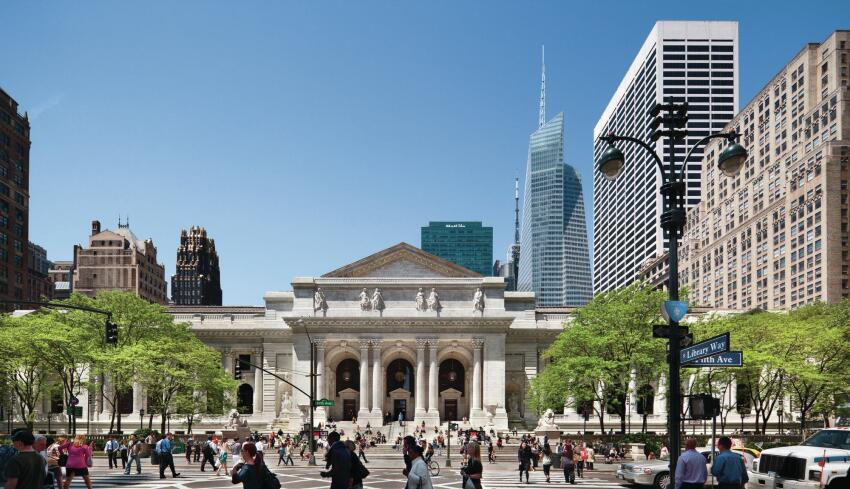 New York Public Library Fifth Avenue and 42nd Street, Location: New York NY, Architect: Carriere and Hastings