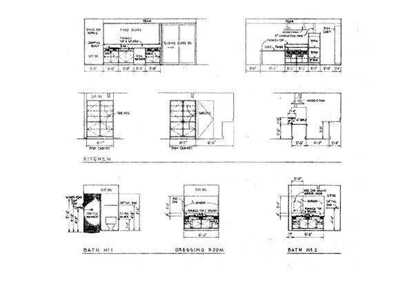 Elevations of an original Eichler.