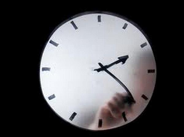 Godfather Clock Corten, designed by Maarten Baas.