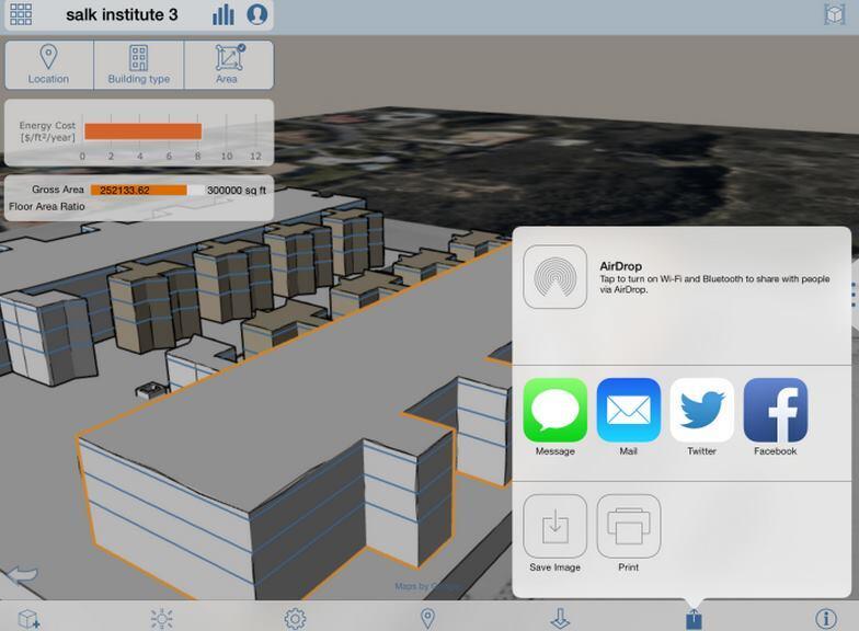 FormIt runs a basic energy analysis to inform the conceptual design.