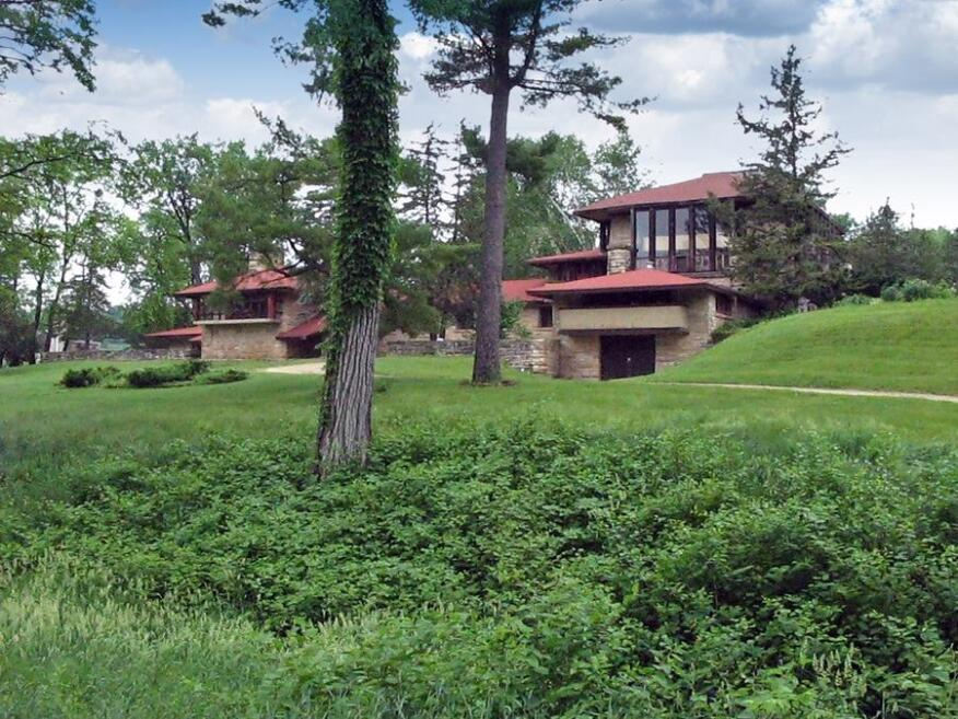 Southern exterior of Taliesin's Hillside Theater in Spring Green, Wisconsin. (2011)