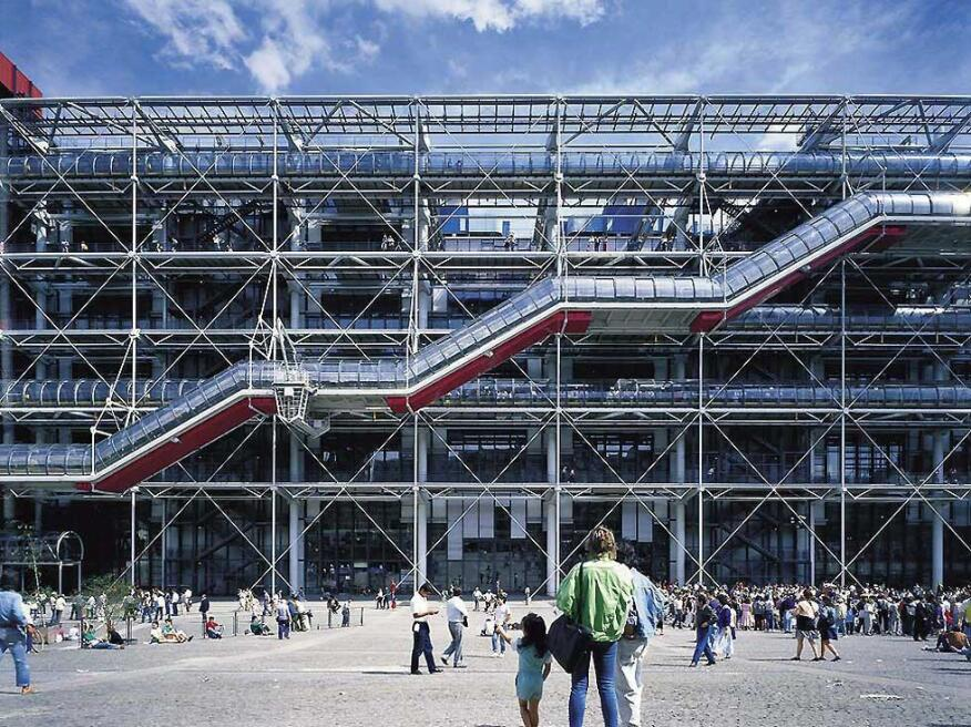 Richard Rogers, Renzo Piano, and Ove Arup's Centre Pompidou in Paris