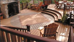 Trex Co. offers railing systems to match its deck planks.