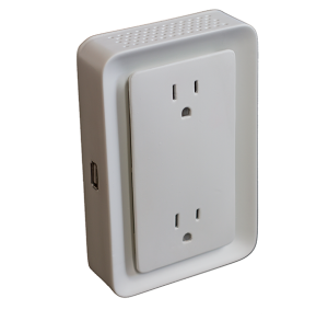 The smart outlet learns residents' habits and communicates with the smart vent to turn open or close the vent automatically.
